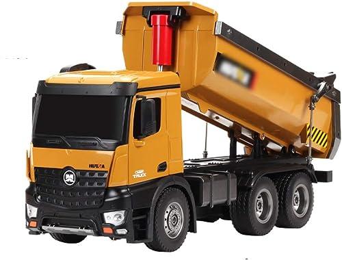 alto descuento Xyanzi ertongwanju RC Truck, Truck, Truck, 2.4GHz 1 14 RC Truck 10-CH Control Remoto Construcción Tractor De Camión Volquete con Simulación De Luces Camión Volquete Vehículos De Ingeniería  increíbles descuentos