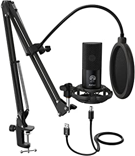 Fifine Technology USB Condenser Broadcast/Podcast Microphone w/Filter/Desk Stand