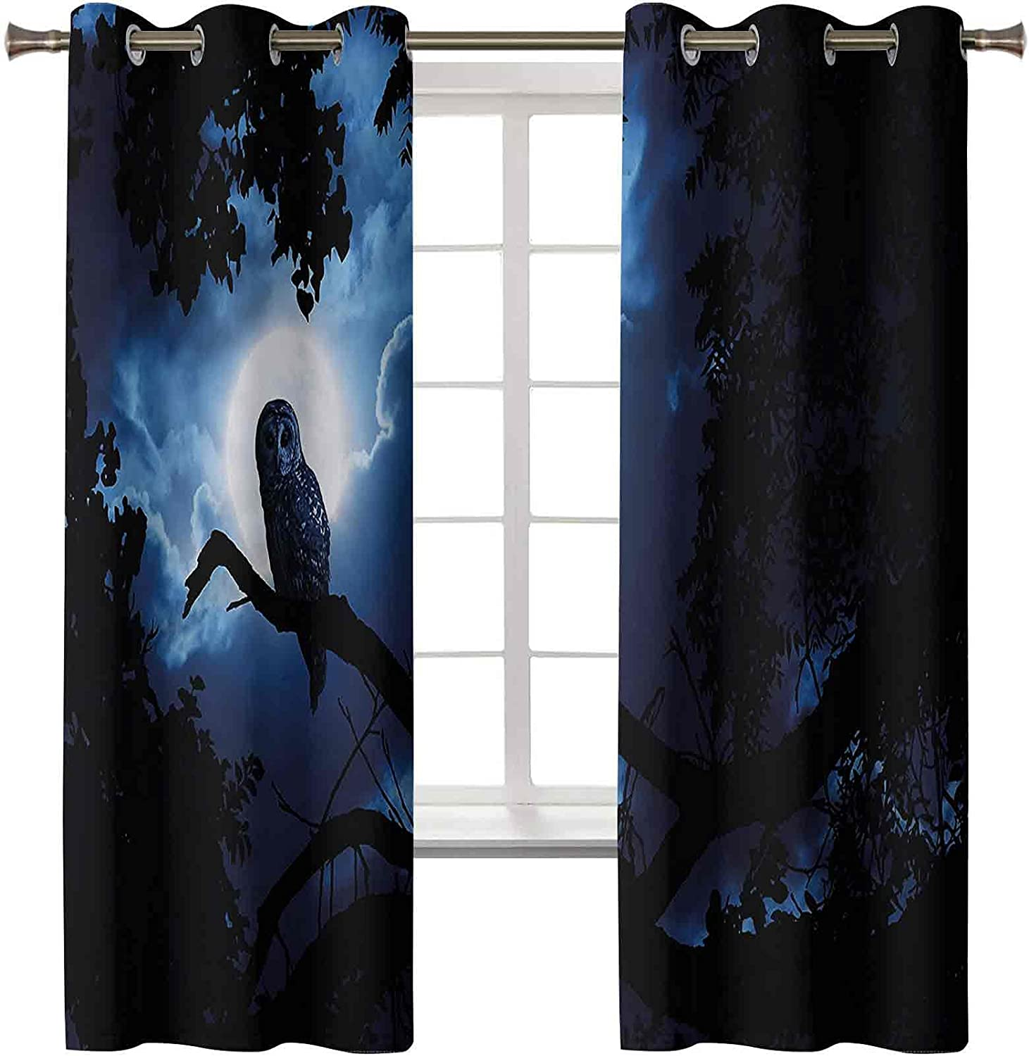 Blackout Curtains Grommet Thermal Special sale item Insulated Woodlan service Quite Night