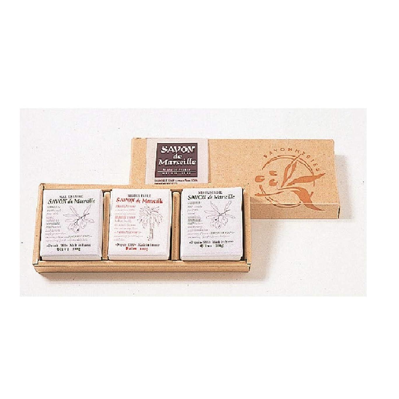 スペイングレートバリアリーフ居心地の良いサボンドマルセイユ無香料ギフトセット3個入り
