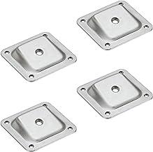 Gedotec Hoekmontageplaat schuin met M8-schroefdraad voor meubelpoten en tafelpoten, schroefplaat 10 graden, meubelpoten be...