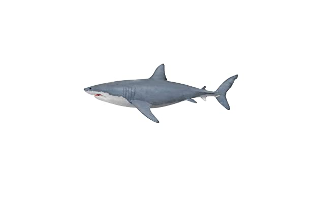 Great White Shark Wall Decal Peel And Stick Giant Life Size Graphic Sticker 19in Tall X 50in Wide 6084s Facing Left