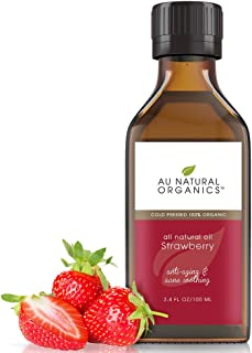 Au Natural Organics Strawberry Seed Oil | Natural Cold Pressed Carrier Oil | Skin, Hair, Lip and Nail Care ...