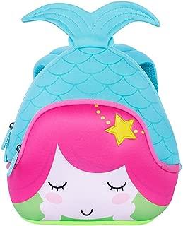 Alnaue Toddler Kids Pre School Bag Cute 3D Mermaid Animal Children School Backpack for girls