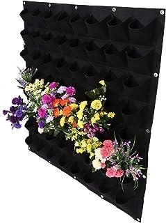 Muurhangende plantenzak Plantenkweekzak, kweekzak, tuin voor aardbeien Groenten planten bloemen(zwart)