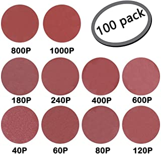 """50 Keen Abrasives 5/"""" 120 Grit Self Adhesive Sanding Discs With Tabs 5 Holes"""