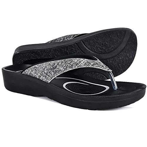 8398cb6d70e360 AEROTHOTIC Original Orthotic Comfort Thong Style Sandals   Flip Flops for  Women with Arch Support for