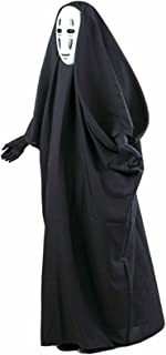 HBMaida Fancy No-Face Spirited Away Cosplay Costume with Mask Gloves for Halloween