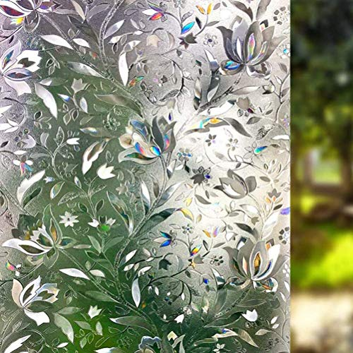 Rsoamy Fensterfolie, 3D Dekofolie Sichtschutzfolie, Fensterglasfolie zum Sonnenschutz für Glas