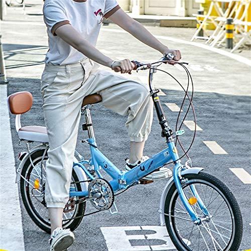 TYXTYX 20 Zoll Klapp Fahrrad Faltrad Folding Bike 6 Gang,Klapprad,Quick-Fold-System, Klappfahrrad,Blau