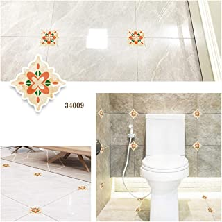 Evangelia.YM Tile Diagonal Floor Wall Stickers Wallpaper 1 Roll 15 Pcs Living Room Kitchen Bedroom Bathroom Decor Removable Modern Art (H)