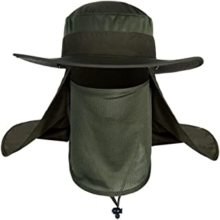 Aniywn Clearance Price! Outdoor Shade Unisex Brim Sun Block Quick Drying Fishing Sun Cap Climbing Bucket Hat (Free Size, Army Green)