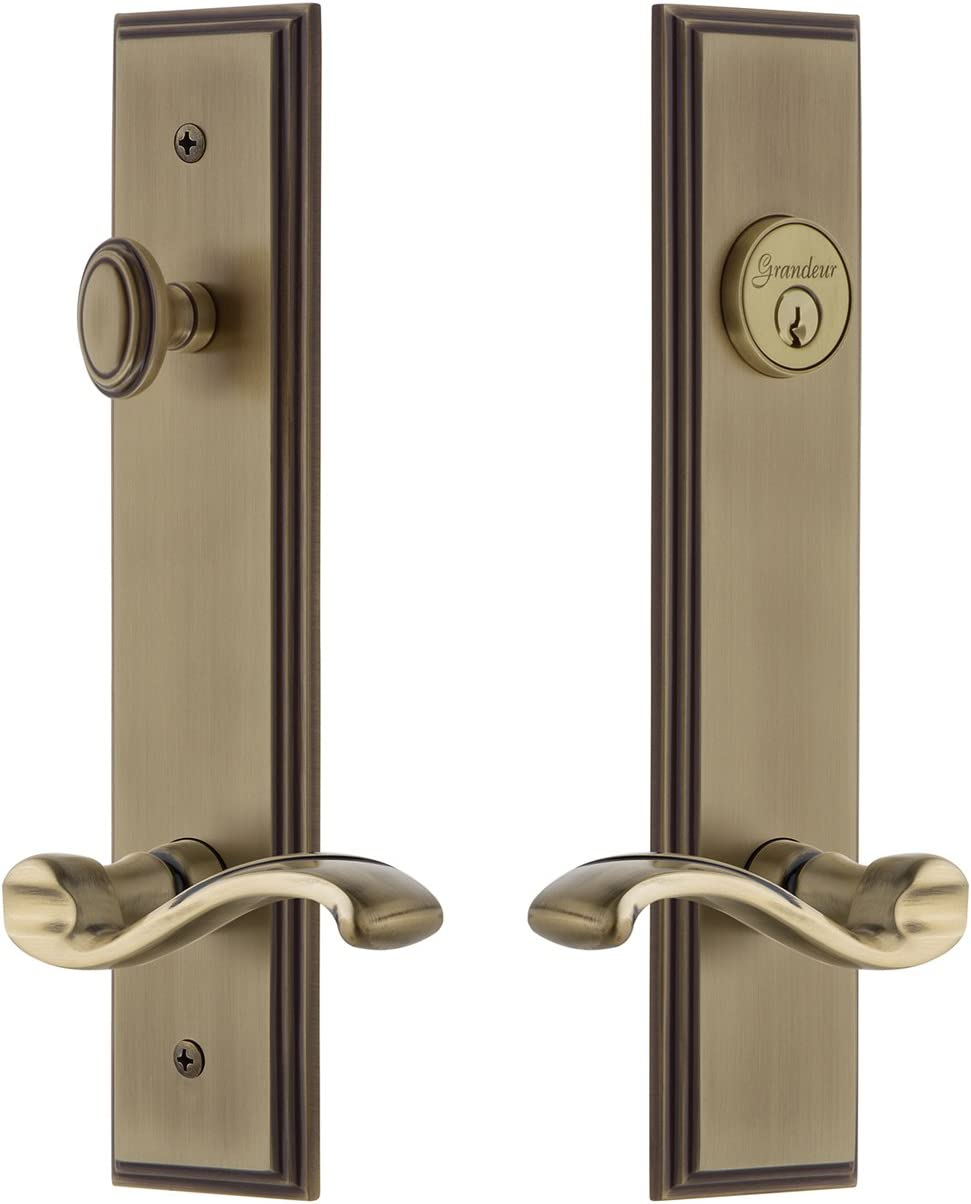 Grandeur Hardware 841511 Carre' Tall Set wi Entry A surprise New life price is realized Plate Complete