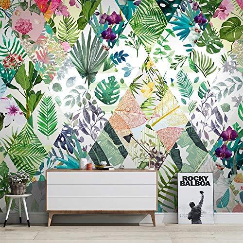 3D Wallpaper Nordic Style Tropische Pflanze Blume Blatt Wandbild Wohnzimmer TV Sofa Hintergrund Tapete Wandbild 3D Wallpaper Sala-L