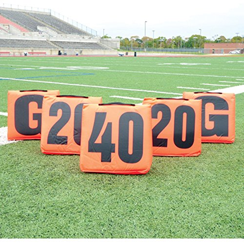 Pro Down Solid Sideline Markers with Handle - 5PC Set