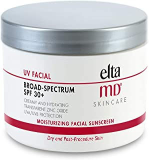 EltaMD UV Facial Moisturizing Sunscreen Broad-Spectrum SPF 30+ with Hyaluronic Acid, Non-Greasy, Mineral-Based Face Sunscr...