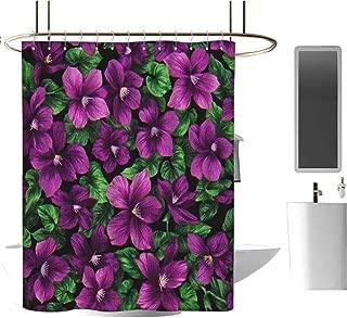 Genhequnan Elegant Shower Curtain Waterproof Fabric Shower Curtain for Master Bathroom Kids Bathroom Guest Bathroom W62 x L72 Inch