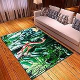 WPCheng Alfombra Flamenco De Hermosa Planta Tropical Alfombra Suave Antideslizante para Decoración del Hogar Impresa En 3D F-2834N 60X100Cm