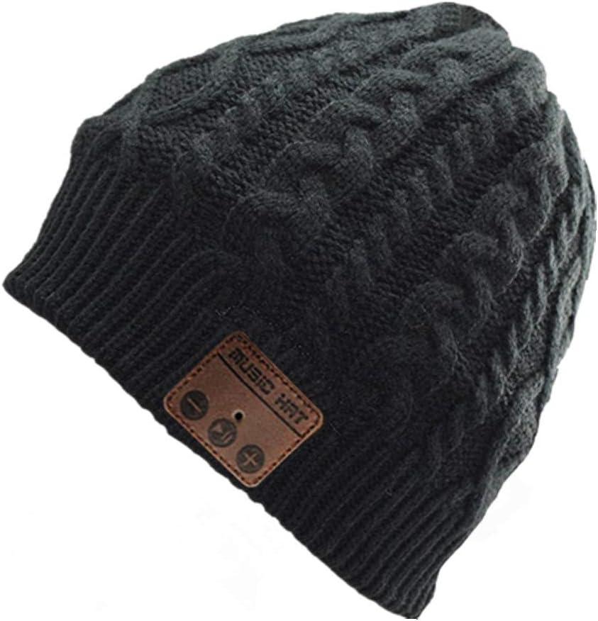 BearsFire Wireless Music Beanie Hat with Bluetooth Headphones Earphone Speaker Mic Unisex Winter Warm Thick Skull Running Knit Cap for Men Women Outdoor Sports