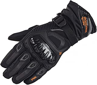 Motorbike Full Finger Motorcycle Gloves, Touch Screen Winter Warm Waterproof Windproof Protective Clothing Gloves for Men ...