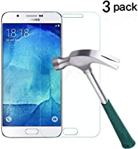 TANTEK Galaxy J7 Screen Protector, [Bubble-Free][HD-Clear][Anti-Scratch][Anti-Glare][Anti-Fingerprint] Premium Tempered Glass Screen Protector for Samsung Galaxy J7(2015),-[3Pack]