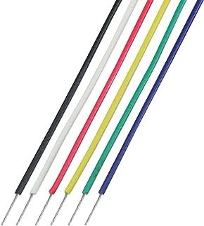 協和ハーモネット UL耐熱架橋ビニル絶縁電線 黒白赤黄緑青UL1571 AWG30 2m <6>