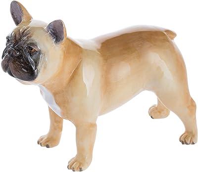 John Beswick French Bulldog Fawn Figurine, Earthenware, Multi-Colour, 11.5 x 4 x 9 cm