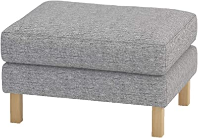 The Heavy Duty Karlstad Footstool Cover Replacement is Custom Made for IKEA Karlstad Ottoman, A Sofa Ottoman Slipcover Replacement (Durable Flax Polyester)