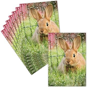 Carte Joyeuses P/âques /— 8 Cartes Pli/ées ➽ 3 Formats Dispos /— Carte Les Lapineaux De P/âques
