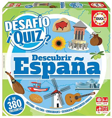 Educa - Desafio Quiz-Descubrir España Juego de Mesa, Multicolor (18217)
