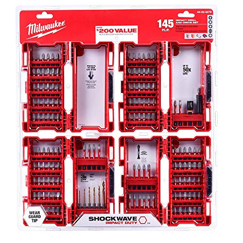 Milwaukee - 48-32-4079 - SHOCKWAVE Impact Duty Steel Drill and Driver Bit Set - 145-Piece