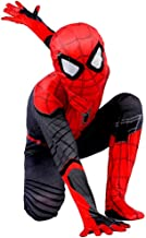 Disfraz Spiderman Niño, Spiderman Disfraz Niño, Halloween Carnaval Homecoming Superheroe Spiderman Mascara Niño Cosplay Suit Traje De Spiderman Niño, Disfraz De Spiderman Niño,RedBlack-XS(102cm~112cm)