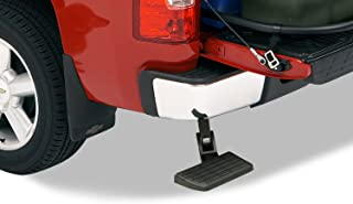 AMP Research 75302-01A BedStep Retractable Bumper Step for 2006-2014 Ford F-150 & Raptor (Excludes Flareside),Black,Large