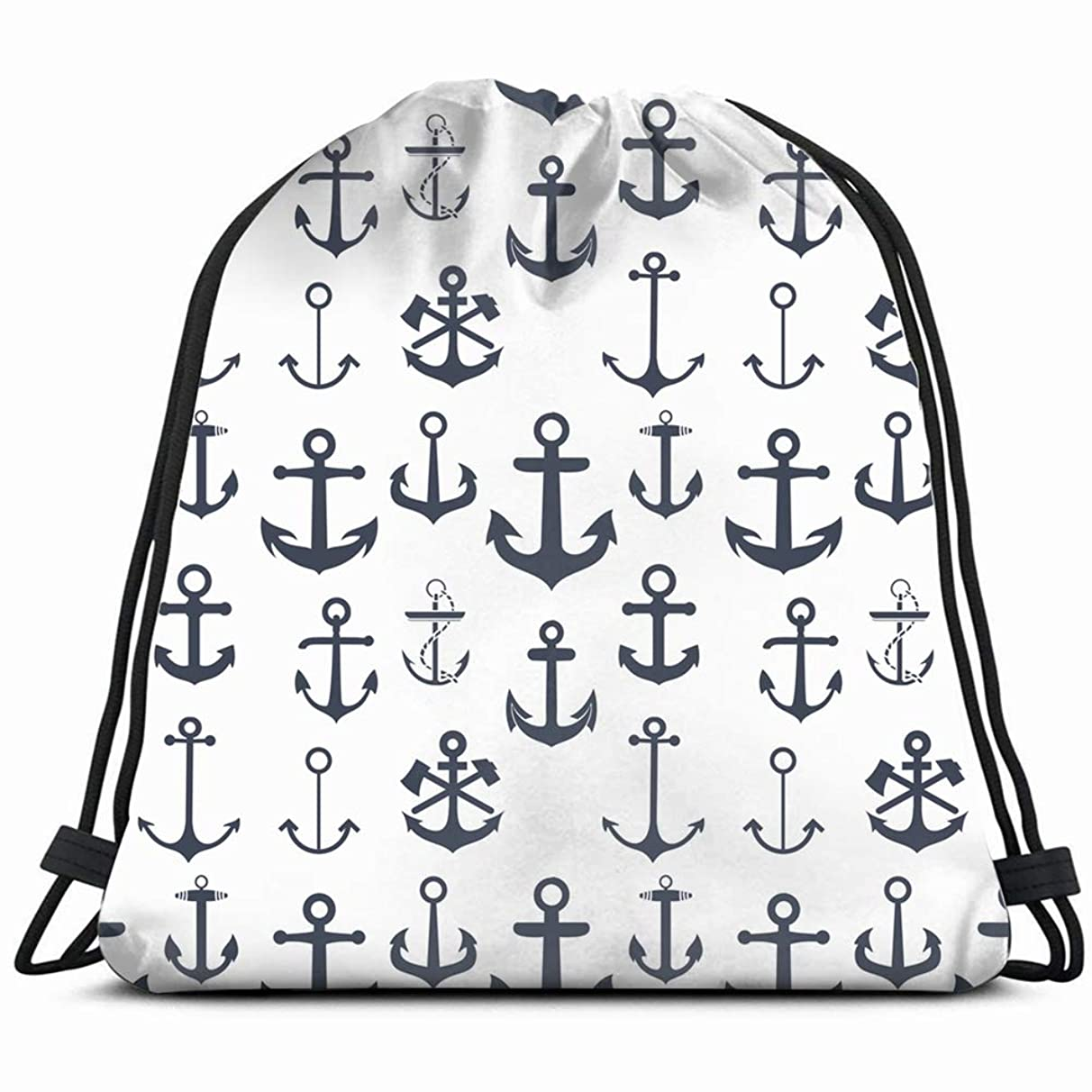 anchors anchor vintage Drawstring Backpack Gym Sack Lightweight Bag Water Resistant Gym Backpack for Women&Men for Sports,Travelling,Hiking,Camping,Shopping Yoga