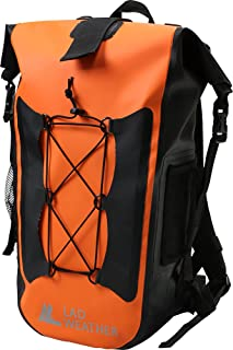 LAD WEATHER Waterproof Backpack 40L Roll top Backpack Style Hiking Travel Dry Bag 13 inch Laptop Pocket
