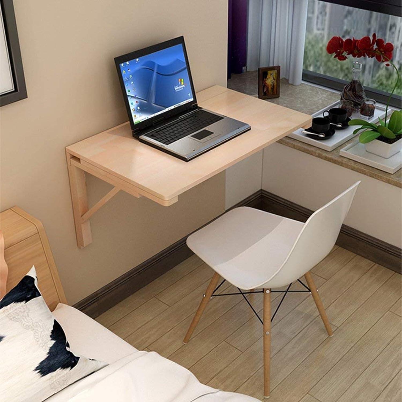 barato en línea AFDK Tabla plegable de la tabla tabla tabla de cena de la tabla de la parojo de madera sólida Hoja del descenso contra la mesa de aprendizaje del escritorio de la computadora de la parojo,120  50 cm  punto de venta en línea