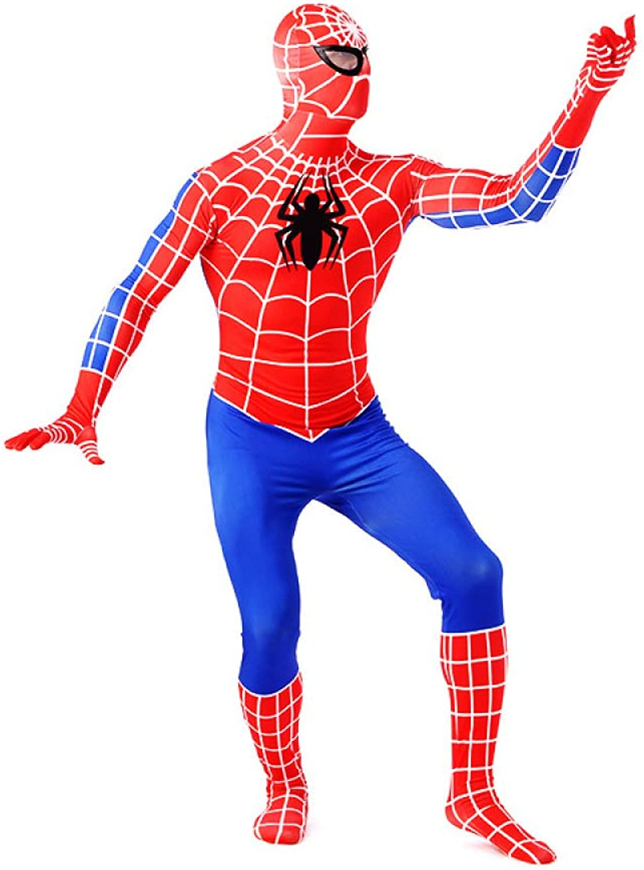 hasta un 65% de descuento QXMEI súperhero Halloween Show Costume Adult Spider Man Man Man Medias 3D CosJugar De Impresión Digital,rojoazul-L  sin mínimo