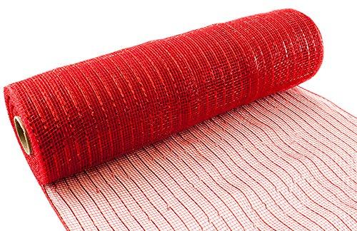 Eleganza Nr. 16Metallic Deco Mesh, rot, 25cm x 9,1m