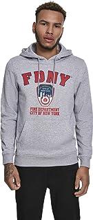 MERCHCODE FDNY Logo Felpa con Cappuccio Uomo