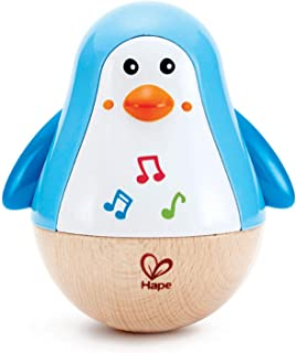 Hape E0331 Penguin Musical Wobbler, 5'' x 2''