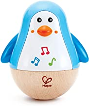 Hape Penguin Musical Wobbler | Colorful Wobbling Melody Penguin, Roly Poly Toy for Kids 6 Months+