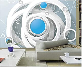 Yxjj1 Latest 3D murals, Personality Rings,Hotel Living Room Sofa TV Wall Bedroom wallpaper-300cm (W) x 200cm (H) (9'8 '' x 6'5 '') ft