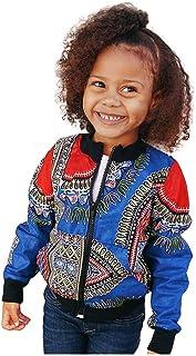 VEKDONE Toddler Baby Girls Dashiki Long Sleeve Fashion African Print Dashiki Short Casual Jacket