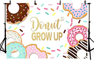 MEHOFOTO Donut Grow Up Baby Shower Party Decorations Photo Studio Background Girl Princess Sweet 1st Birthday Decorations Banner Photography Backdrops for Picture 7x5ft