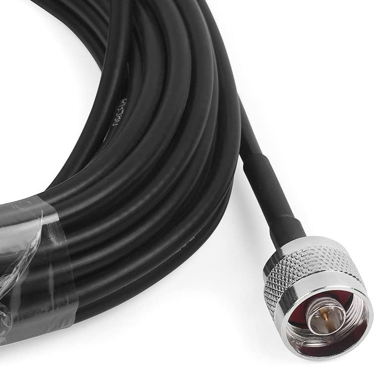 Phonetone 33 Feet 10M 50-3 Low Loss RF Coaxial Cable RF Cable N Male to N Female Connector