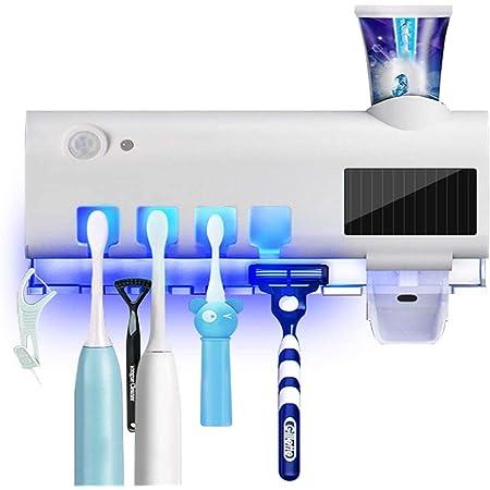 WERT Scatola per disinfezione spazzolino da Denti,Portaspazzolino UV,Prodotto disinfettante a Parete per spazzolino da Denti,con Funzione di sterilizzazione e Asciugatura,per Il Bagno,White