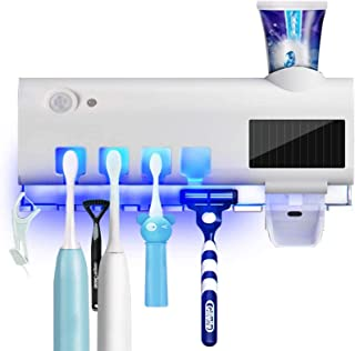 Jacksking Esterilizador de Cepillo de Dientes #2 esterilizador de luz UV Esterilizador de Cepillo de Dientes Esterilizador Dispensador autom/ático de Pasta de Dientes