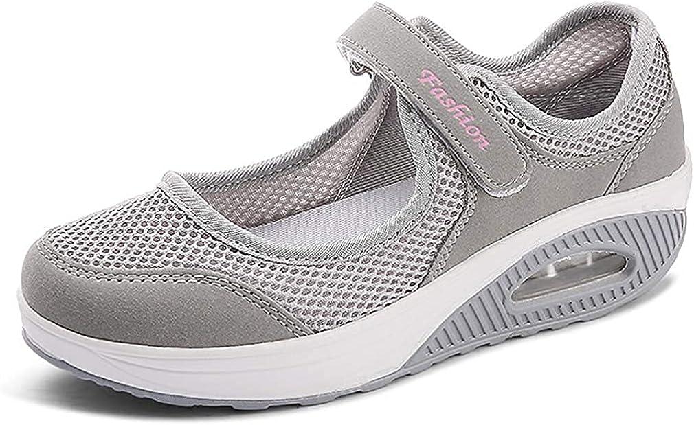 Bargain sale vibu Women's Mesh Walking Shoes Ladies Sandals Absorbing Shock mart W