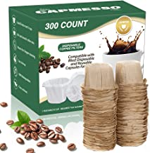 CAPMESSO Disposable Coffee Paper Filters Replacement Keurig Filter for Reusable Single Serve K Series Pods Keurig Coffee Maker- 300 Count (Natural)