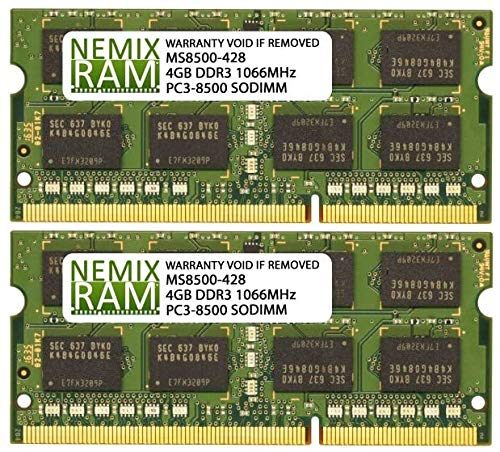 8GB 2X4GB NEMIX RAM Memory for Apple MacBook Late 2009-2010